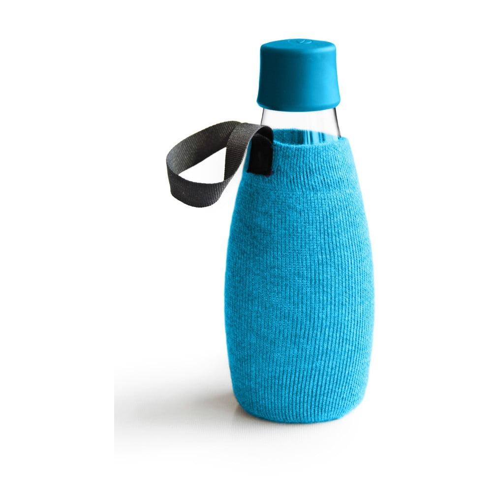 Svetlomodrý obal na sklenenú fľašu ReTap s doživotnou zárukou, 500 ml