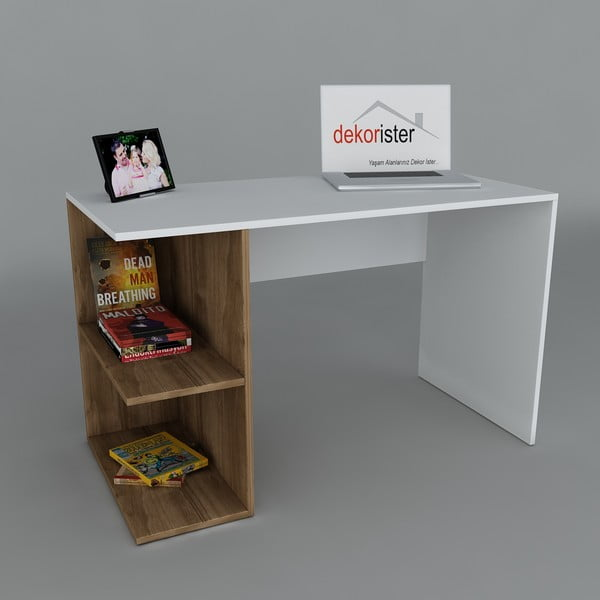 Pracovný stôl Elegance Walnut, 60x120x75 cm