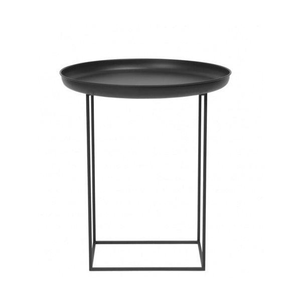 Čierny malý odkladací stolík NORR11 Duke