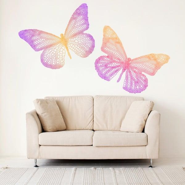 Dekoratívna samolepka na stenu Color Butterfly