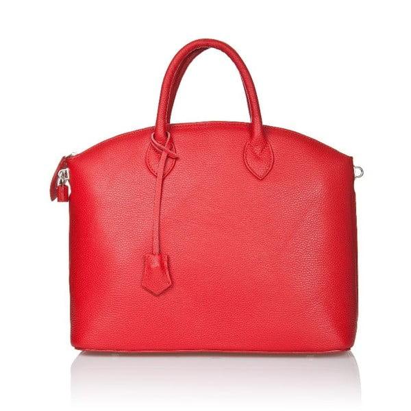 Kožená kabelka Costa Red