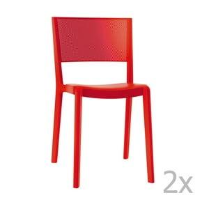 Sada 2 červených záhradných stoličiek Resol Spot