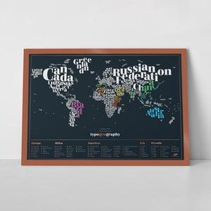 Zoškrabávacia mapa sveta Luckies of London TypoGeography Edition