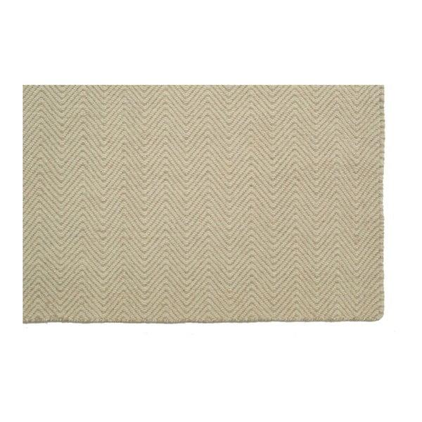 Ručne tkaný koberec Kilim Chevron White/Beige, 155x215 cm