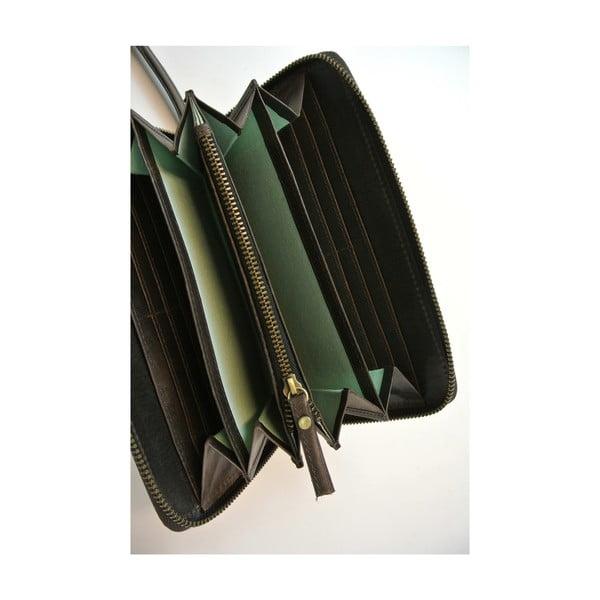 Kožená peňaženka Miss Moneypenny, tmavohnedá