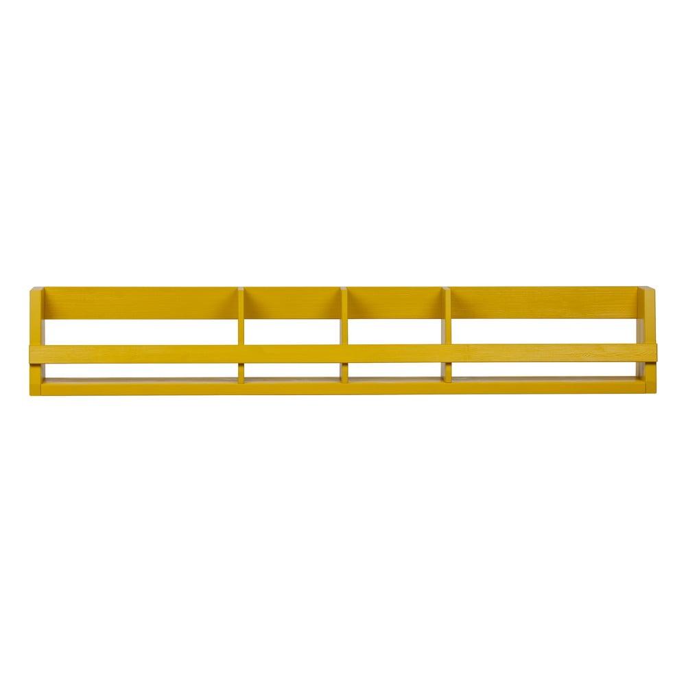 Žltá polica z masívneho borovicového dreva WOOOD Sammie