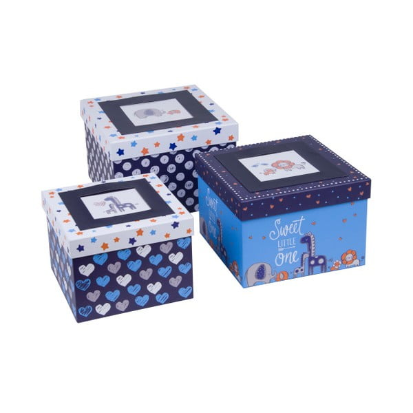 Sada 3 ks boxov Tri-Coastal Design Blue Dream