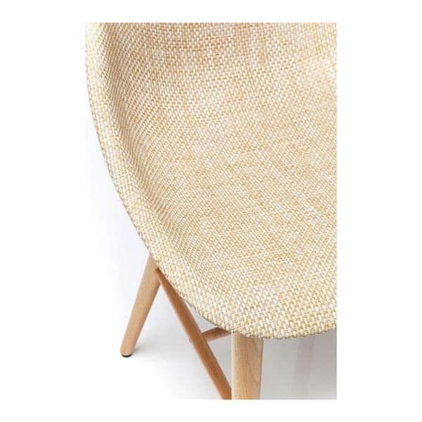 Sada 4 béžových jedálenských stoličiek Kare Design Forum Wood