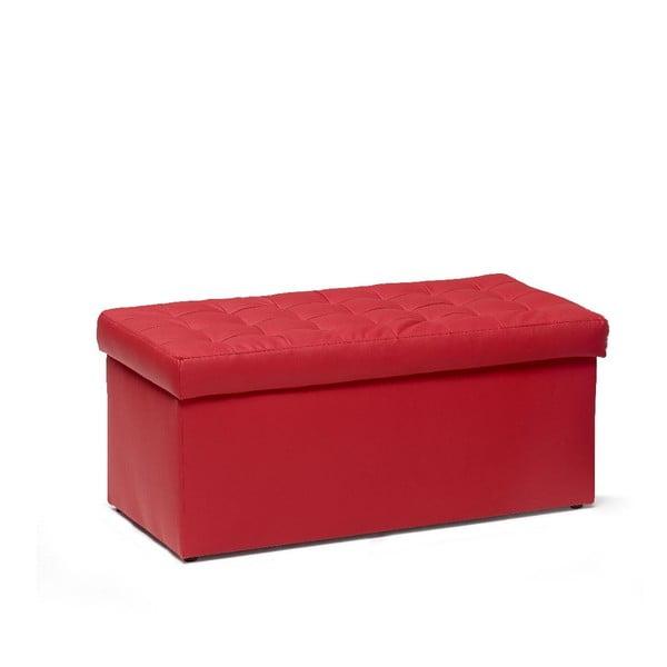 Taburetka s úložným prostorem Silvia Red