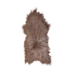 Svetlohnedá ovčia kožušina s dlhým vlasom, 110 x 60 cm