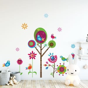Sada detských samolepiek na stenu Ambiance Paradise Tree