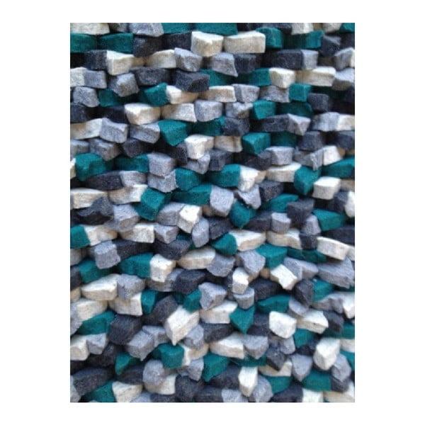 Béžový ručne tkaný vlnený koberec Linie Design Crush, 170x240cm