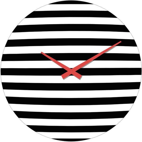 Sklenené hodiny Pruhy, 34 cm