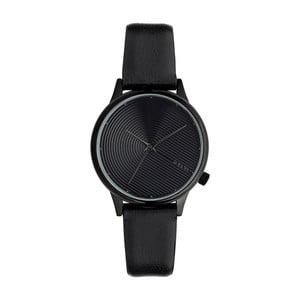 Dámske čierne hodinky s koženým remienkom Komono Deco