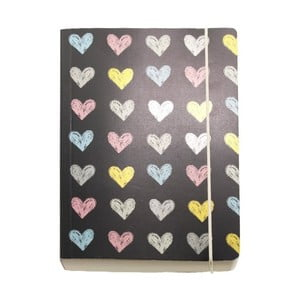 Zápisník A6 Go Stationery Hearts Chunky