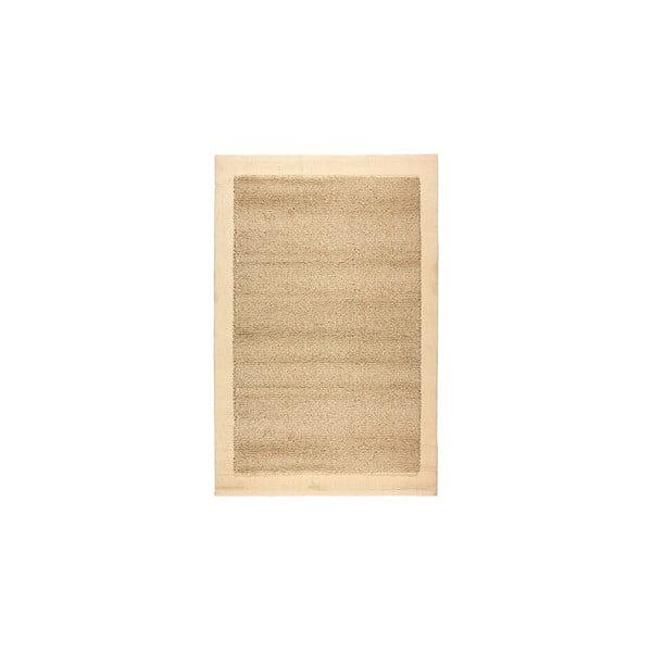 Vlnený koberec Dama no. 610, 60x120 cm, béžový