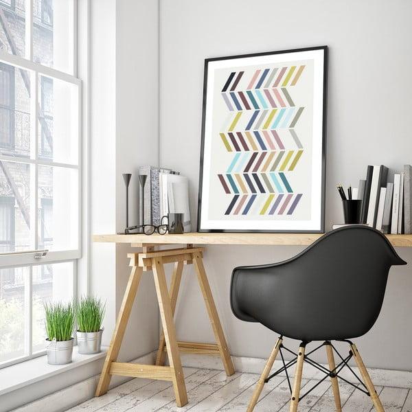 Plagát v drevenom ráme Santolina, 38x28 cm