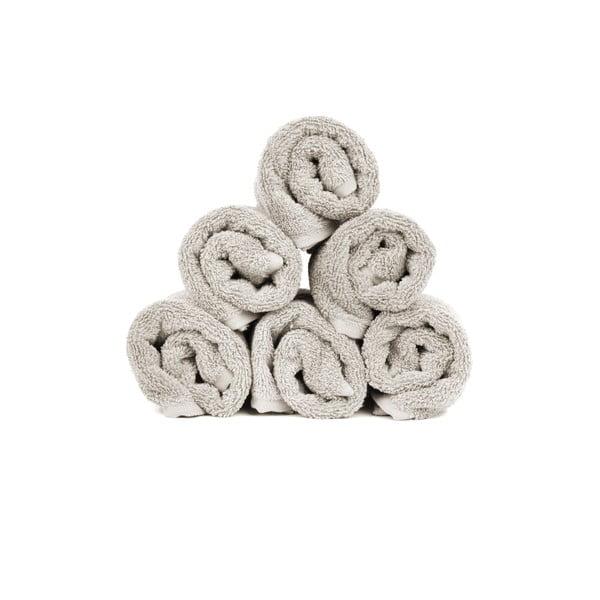 Sada 6 svetlosivých bavlnených uterákov Casa Di Bassi, 30x50cm