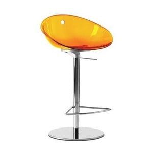 Oranžová barová stolička Pedrali Gliss 970