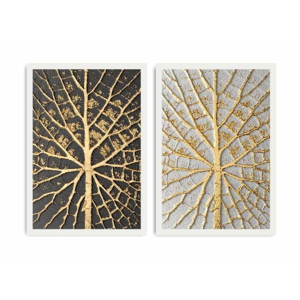Dvojdielny obraz Home Leaves, 72×50 cm