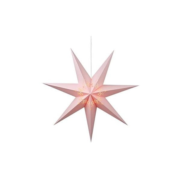 Svietiaca hviezda Kandy Light Pink, 75 cm