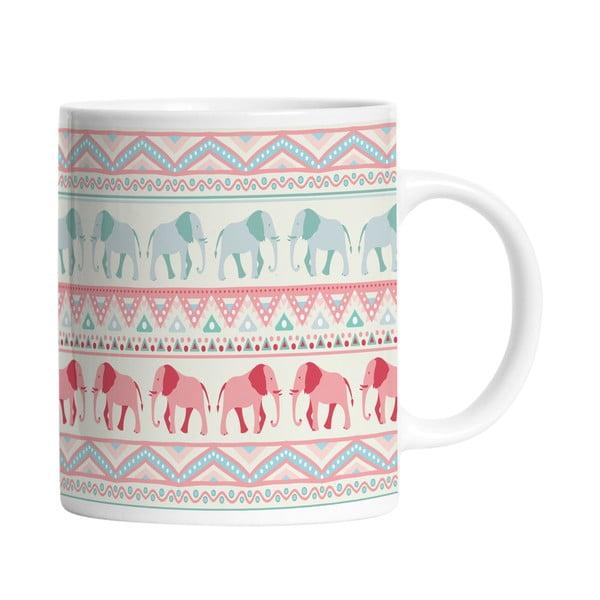 Keramický hrnček Lucky Elephants, 330 ml