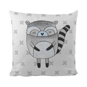 Vankúš Blue Raccoon, 50x50 cm