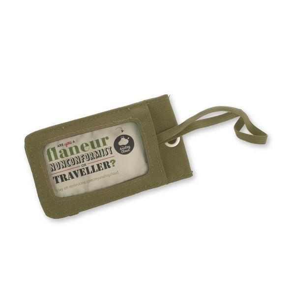 Zelená messenger taška Moleskine MyCloud