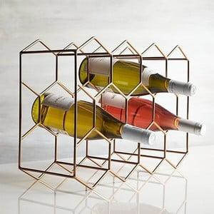Stojan na fľase v zlatej farbe Masivworks Polygono Bee