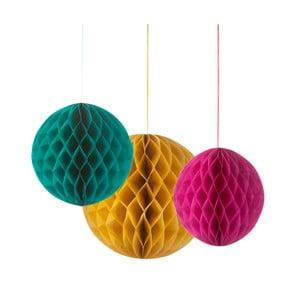 Papierové závesné dekorácie Honeycomb, 3 kusy