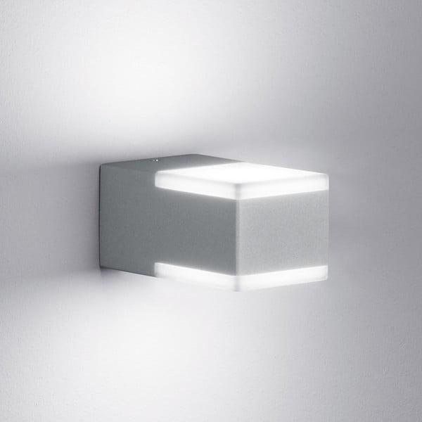 Záhradné nástenné svetlo Don Titanium, 7 cm