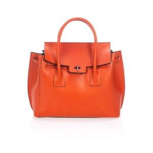 Oranžová kožená kabelka Giorgio Costa Prema