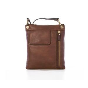 Hnedá kožená kabelka Gianni Conti Juliana