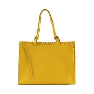 Kožená kabelka Linda, žltá