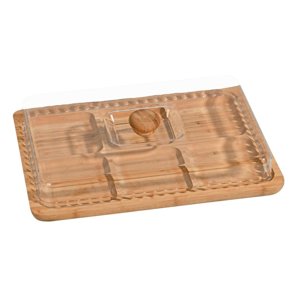 Bambusový podnos na snídani s poklopem Jacob, 33 × 23 cm