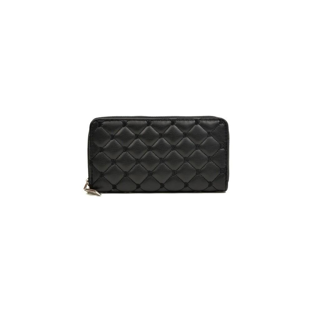 Čierna kožená peňaženka Roberta M Silvia