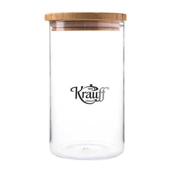 Sklenená dóza Krauff Glass, 18 cm