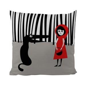 Vankúš Black Shake Red Hood, 50x50 cm