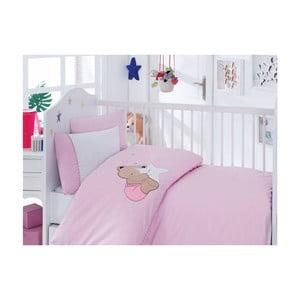 Ružové obliečky Bobo, 120x150 cm