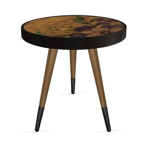 Príručný stolík Rassino Wooden Flower Circle, ⌀ 45 cm