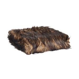 Hnedá prikrývka Clayre & Eef Fur, 130x180cm