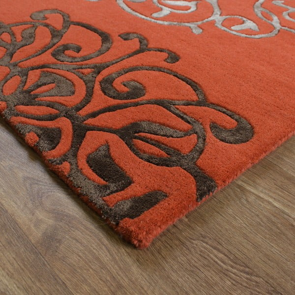 Vlnený koberec Matrix Tangier Terracotta 160x230 cm