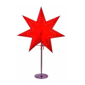 Čierna svietiaca hviezda so stojanom Best Season Bobo Red, 50 cm