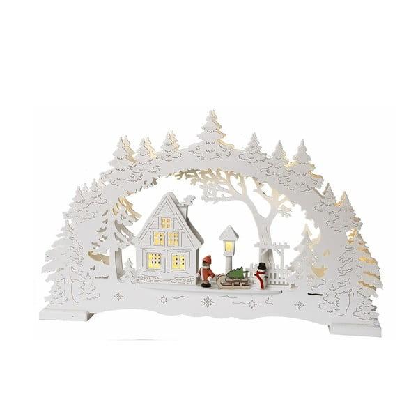 Svietiaca dekorácia Little Village, biela