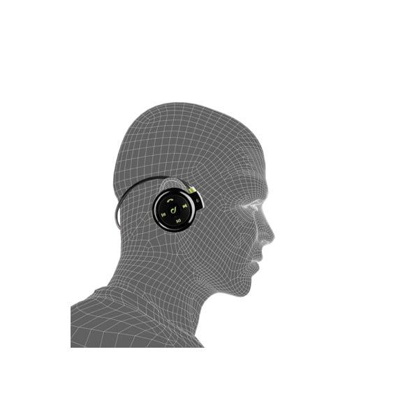 Športové bezdrôtové ergonomické slúchadlá CellularLine, čiernozelené