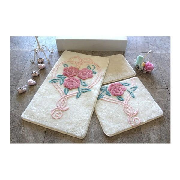 Set 3 kúpeľňových predložiek Bloom