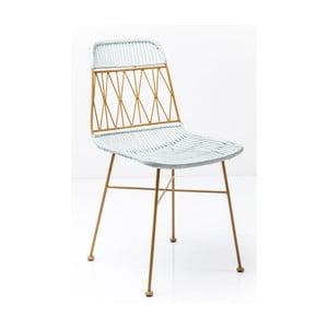 Žlto-biela jedálenská stolička Kare Design Ko Samui