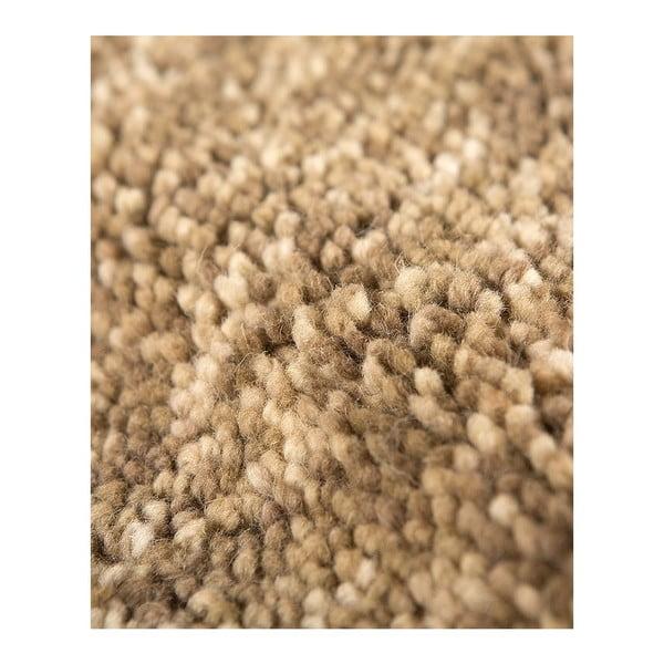 Vlnený koberec Tatoo 110 Beige, 67x200 cm