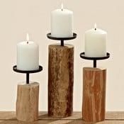 Sada 3 svietnikov z eukalyptového dreva Boltze Tempe