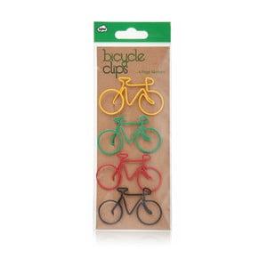 Sada 4 dekoratívnych spôn na papier npw™ Bicycle